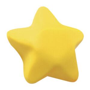Pelota-antiestres en forma de estrella amarilla