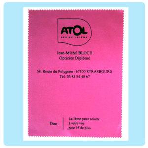 Microfibra impresa con serigrafía