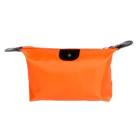 Cosmetiquera con piel en color naranja