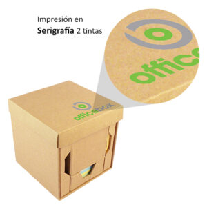 cubo ecologico con impresión