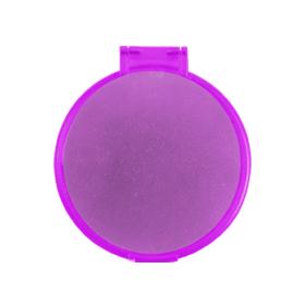 Espejo redondo morado