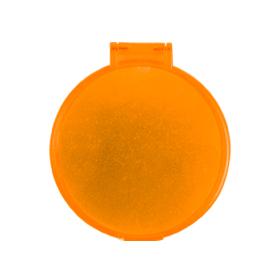 Espejo redondo naranja