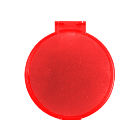 Espejo redondo rojo
