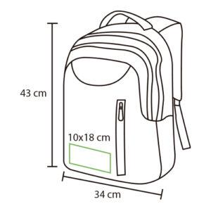 impresión back pack para laptop