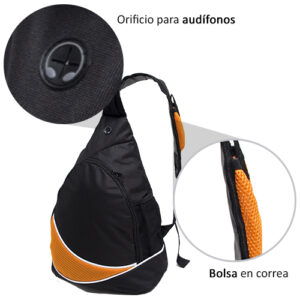 back pack con audifonos