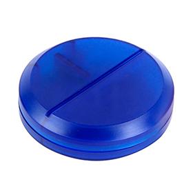 Pastillero redondo azul