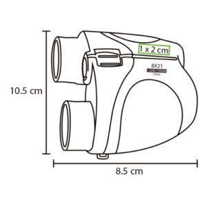 medidas de binoculares