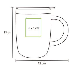 medidads de taza térmica plástica