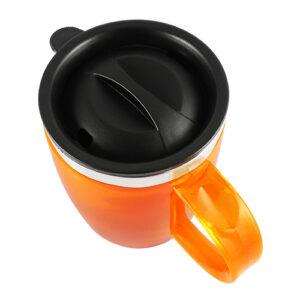 vista superior de taza térmica plástica