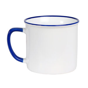 detalle de colores de taza de cerámica