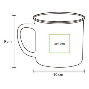 medidas de colores de taza de cerámica