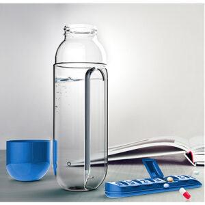 Botella para agua con pastillero
