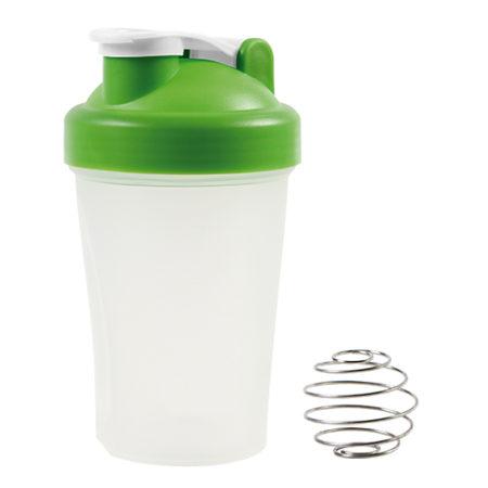 Botella mezcladora con agitador metálico Verde