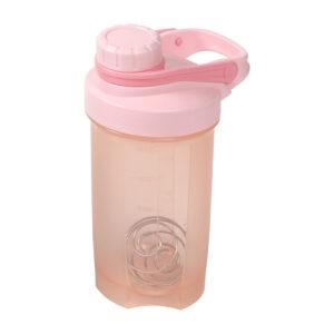 Vaso mezclador con agitador metálico rosa