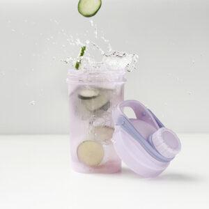 Vaso mezclador en uso