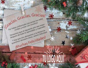 Plantilla de Agradecimiento 1 de ideas para regalar esta Navidad
