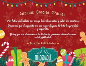 Plantilla de Agradecimiento 4 de ideas para regalar esta Navidad