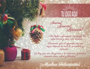 Plantilla de Agradecimiento 5 para ideas para regalar esta Navidad