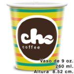 Vasos para café 9 oz